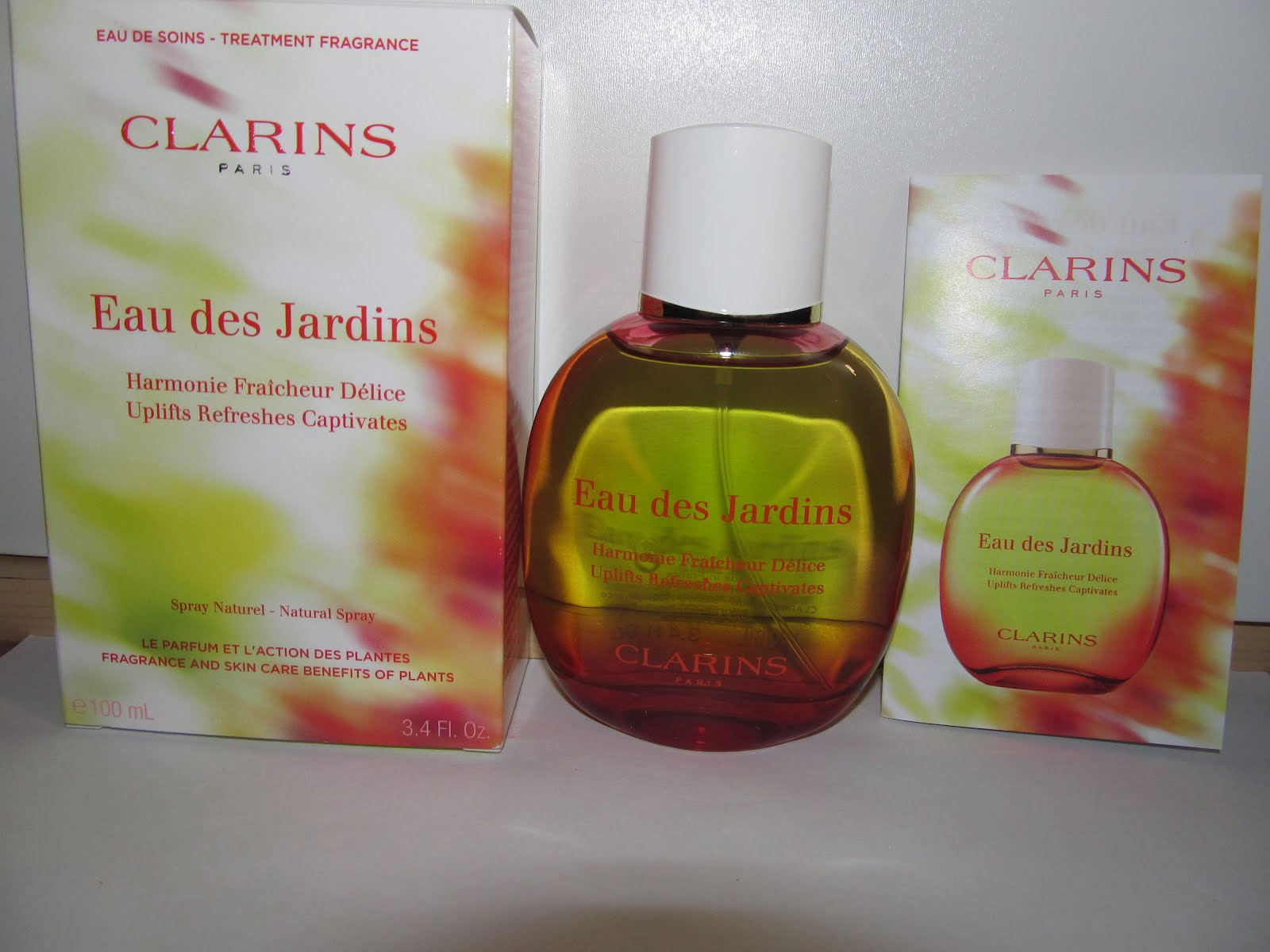 testtante s blog clarins eau des jardins. Black Bedroom Furniture Sets. Home Design Ideas