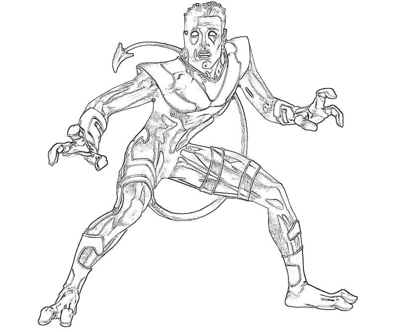 Nightcrawler Power Supertweet Nightcrawler Coloring Pages