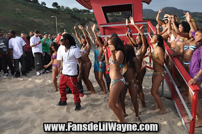 fotos del rodaje del video de so sharp de lil wayne