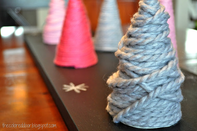 DIY yarn trees - the colored door