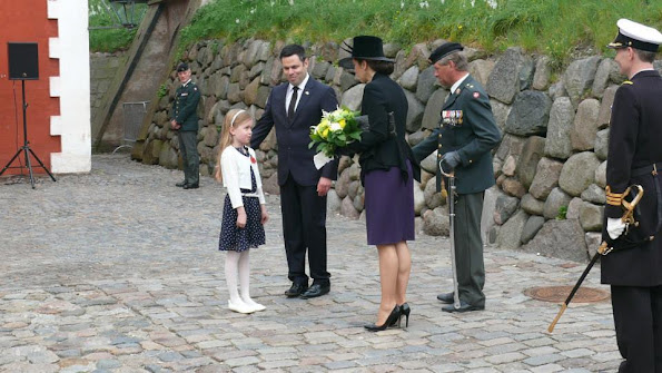 Crown Princess Mary of Denmark attended memorial service of the Anzac Day 2015 at the Kastellet (Citadel) in on April 25, 2015 in Copenhagen, Denmark.
