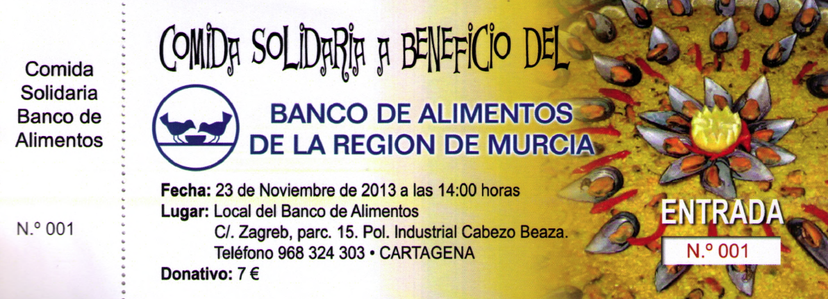 El noticiero digital de cartagena el banco de alimentos organiza una paella solidaria - Banco de alimentos wikipedia ...