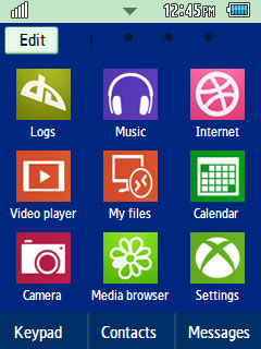 General Latest Windows 8 Samsung Corby 2 Theme Menu