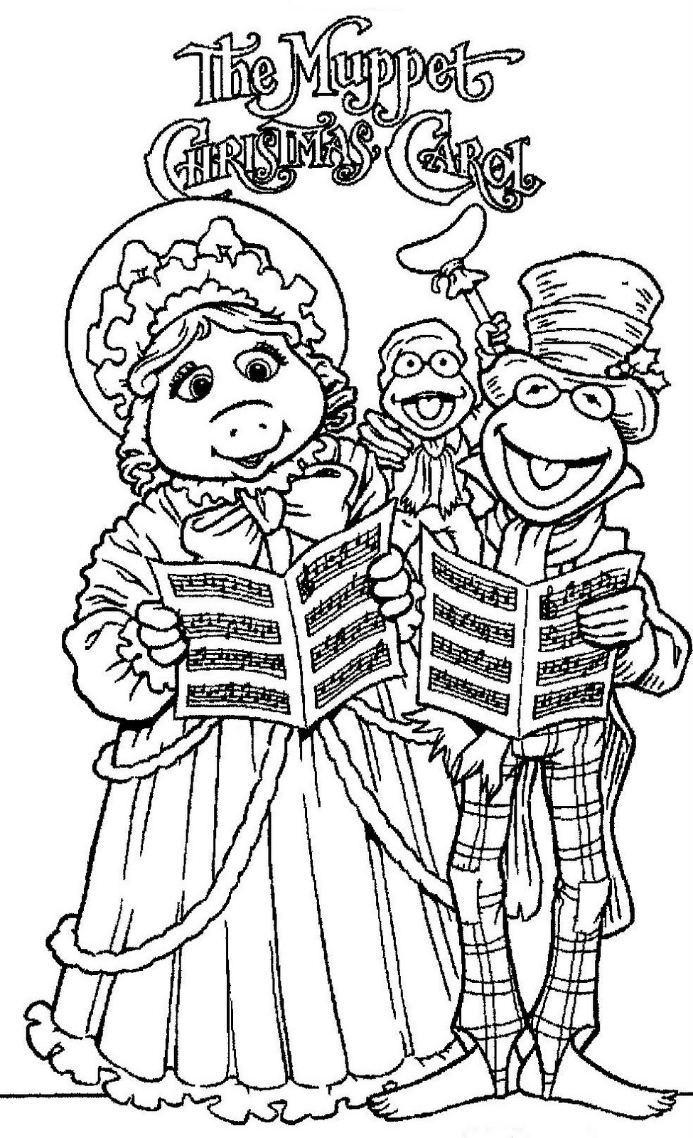 mostly paper dolls the muppet christmas carol movie coloring contest