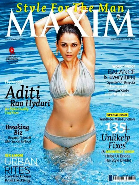 Aditi Rao Hydari Maxim India Magazine September 2013