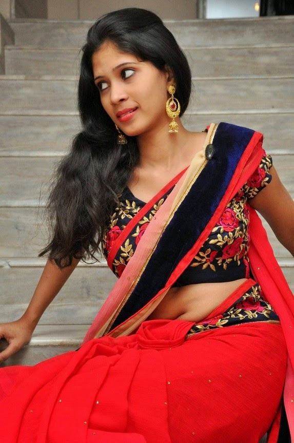 actress om sizzling photos in saree-HQ-Photo-13