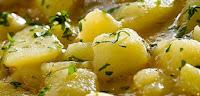 Patatas guisadas con almendras. Receta