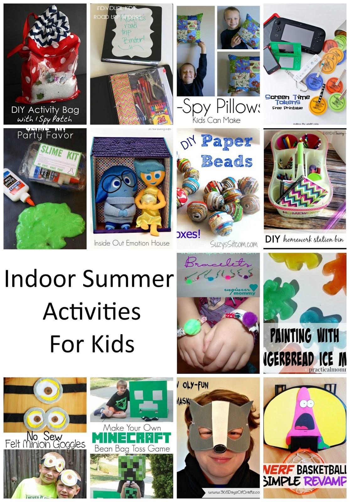 Indoor Summer Kid Activities. Boredom busters to beat the heat