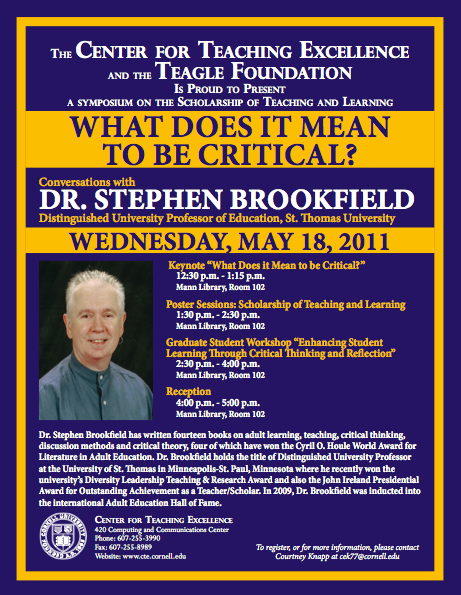 stephen brookfield teaching for critical thinking