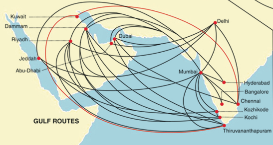 Air Route Map of India Air India Has More Routes to