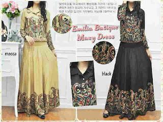 Emilia Batik Maxi Dress