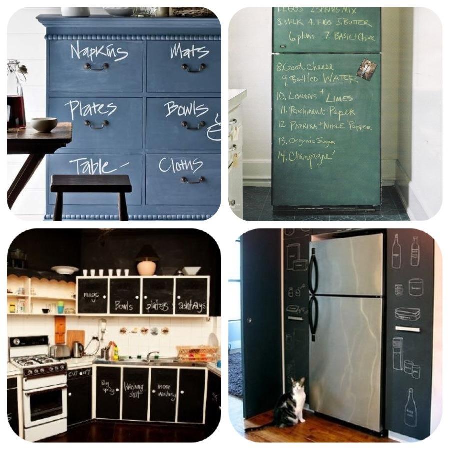 Stylehouseblog la pittura lavagna assolutamente geniale - Pitturare mobili cucina ...