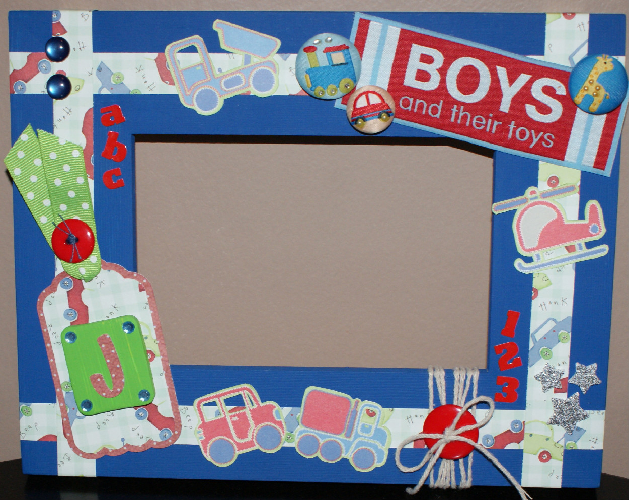 Boys And Their Toys : Jenny evans boys and their toys wooden picture frame