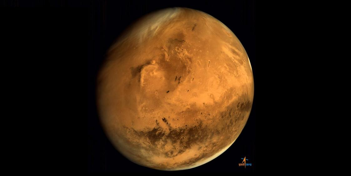 Mars as seen by India's Mars Orbiter Mission (MOM). Credit: ISRO
