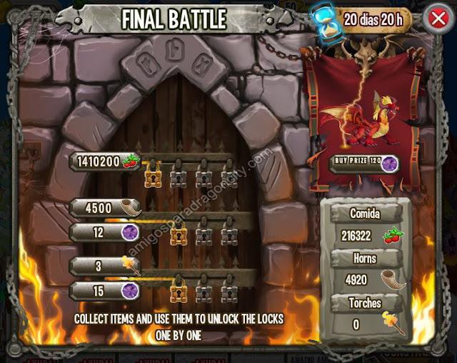 imagen de las tareas y objetos magicos de final battle batalla final de la isla calabozo