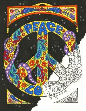 Kay Larch Studios Peace Sign Art Coloring Book