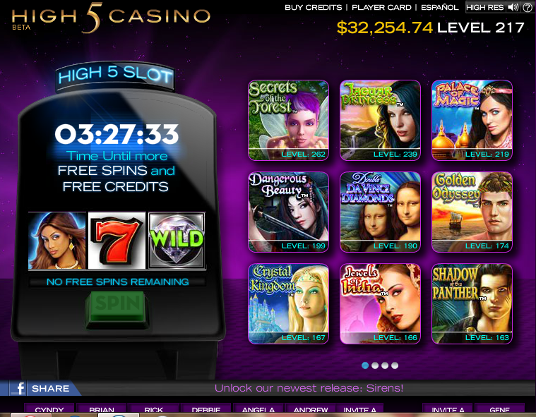 facebook high 5 casino free slots