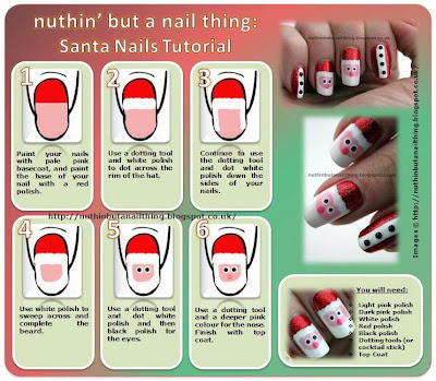 santa father christmas nails tutorial