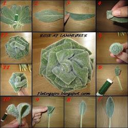 DIY rose af lammeøre