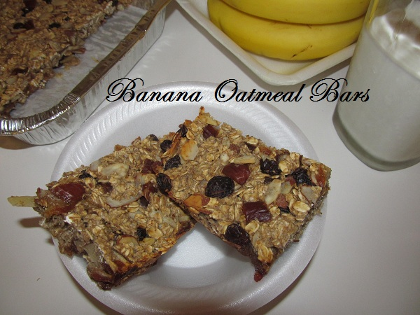 Banana Oats Bar ~Sugarless(4 ingredient; A healthy guilt free snack)
