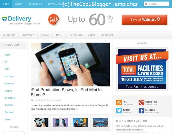 delivery-Blogger-template