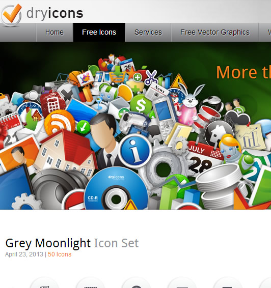 Icon Website : Dry Icons