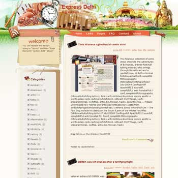 Express Delhi Blogger Template