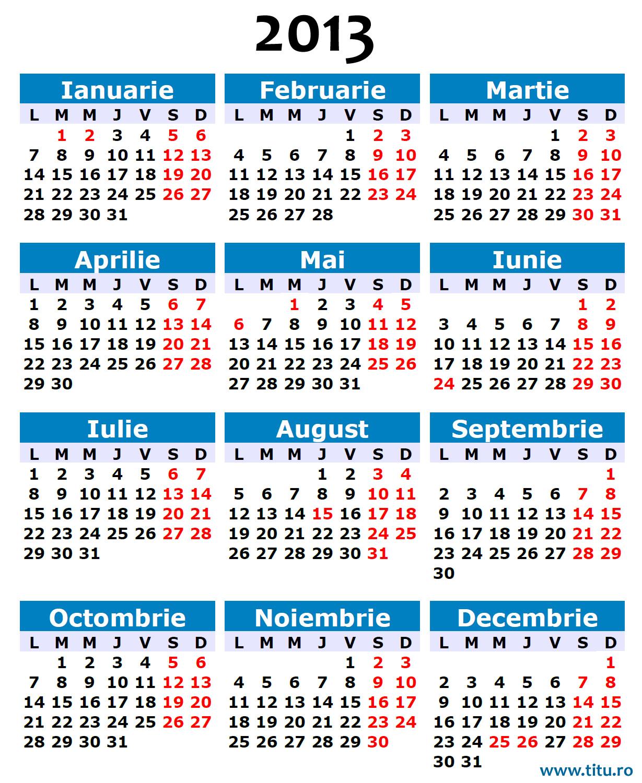 În România, în anul 2013, dintr-un total de 12 zile libere legale ...