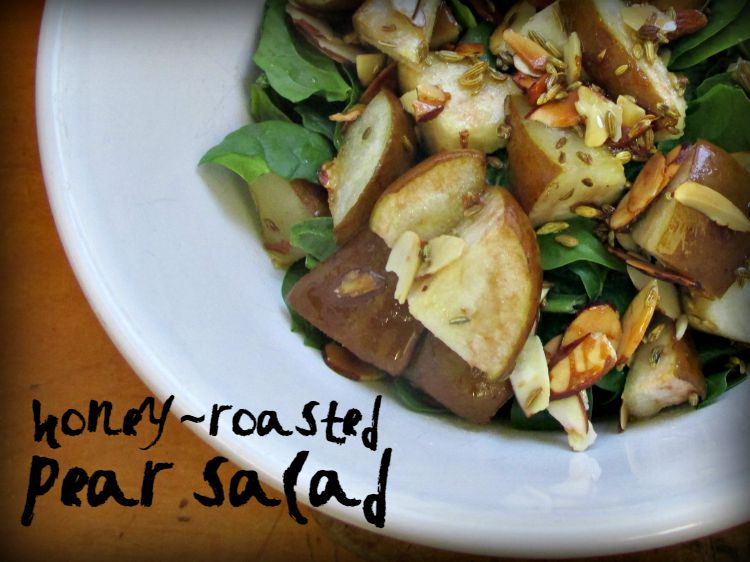Honey Roasted pear Salad Recipe