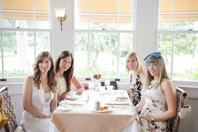 Amy West and friends at the Jekyll Island Club Hotel