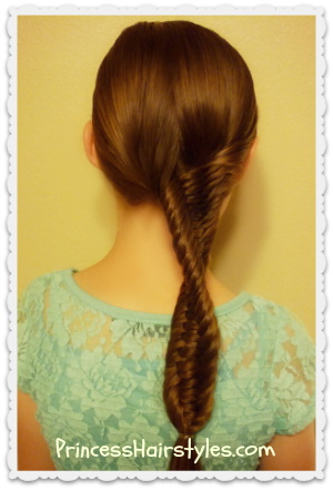 3 strand fishtail braid with a twist