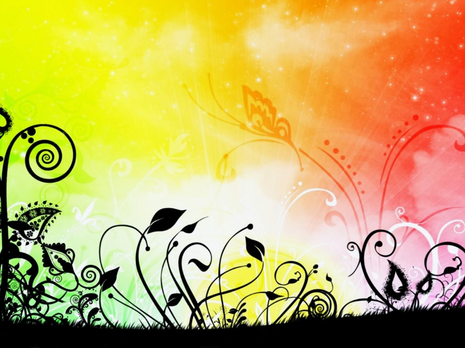 rainbow flower background - photo #29