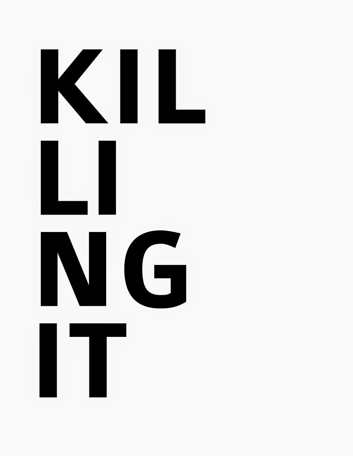 free killing it stencil