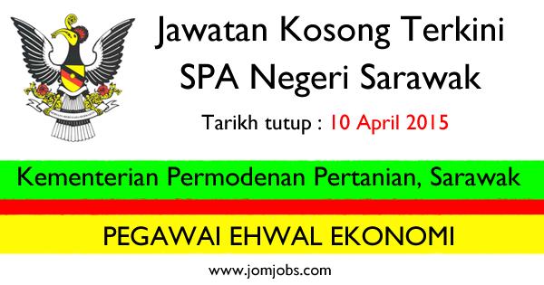 Jawatan Kosong SPA Sarawak - Kementerian Permodenan Pertanian