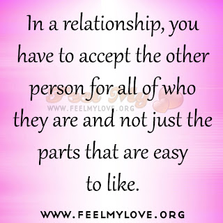 In a relationship, you have to accept the other person