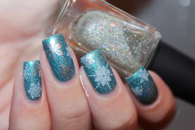 Frozen Snowflakes Nail Art