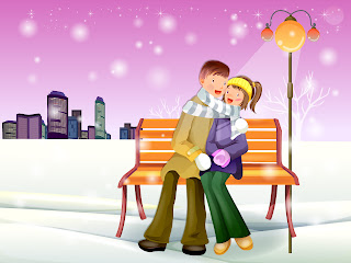 Romantic Winter Love Wallpaper