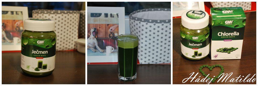 zelené potraviny, mladý ječmen, chlorella, Green Ways