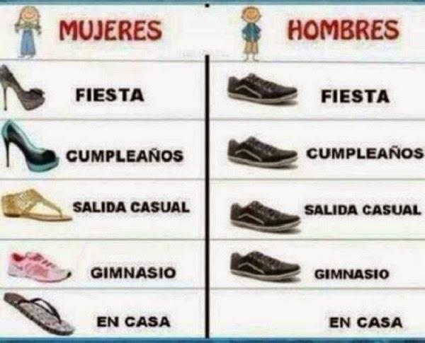Zapatos de hombres y mujeres
