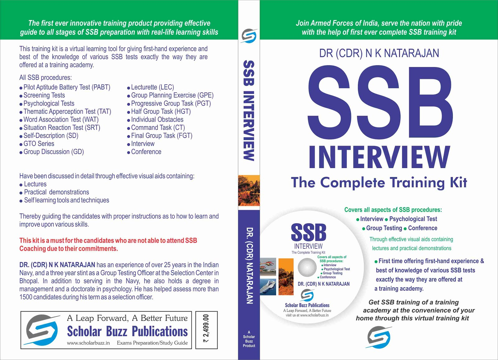 best ssb coaching material training cd kit by dr nk natarajan ssb interview the complete training kit cover page