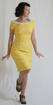 Juliabobbin Vintage Yellow Dress Brooch Give