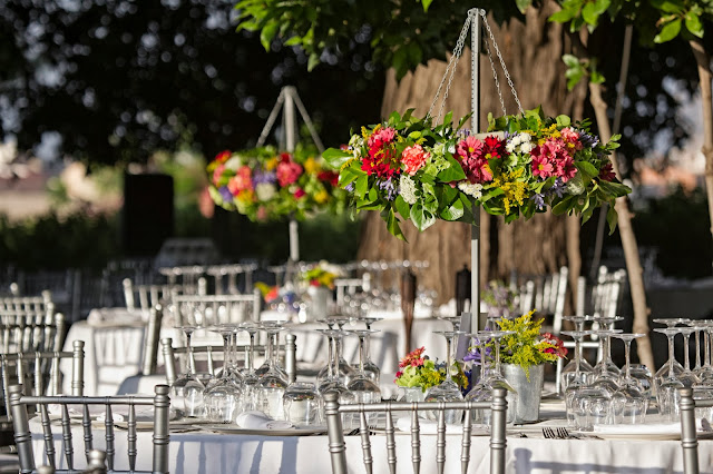 Decoración boda Valencia Centro de mesa Corona