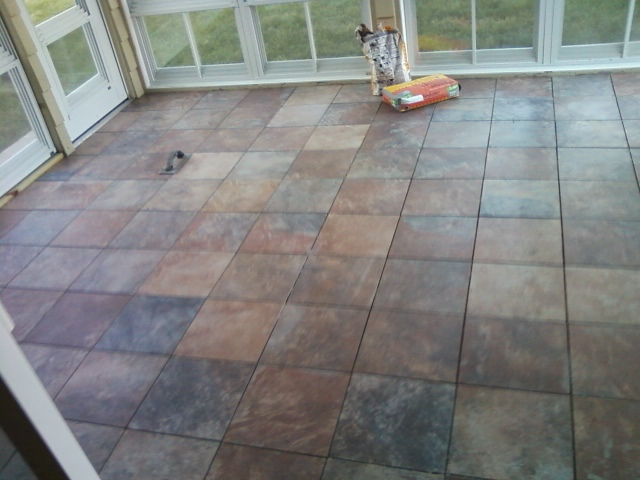The on line buzzletter installing tile floor on the sun for Flooring for porches