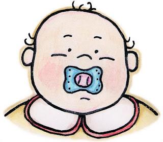 Dibujo de bebe con chupete para imprimir