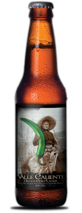 valle caliente green chile beer
