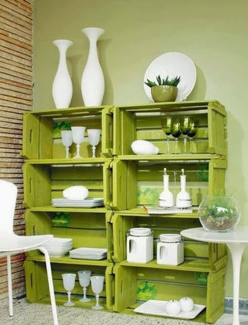 Decoracion De Baño Con Material Reciclado:DIY Idea with Wooden Crates