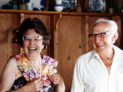 The cottage was a source of great memories like this. Here Granny and Grampy are celebrating his 80th birthday.