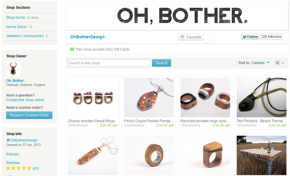 https://www.etsy.com/uk/shoMa Bicyclette: Self Employed | Setting Up Your Online Shop - Oh Botherp/OhBotherDesign