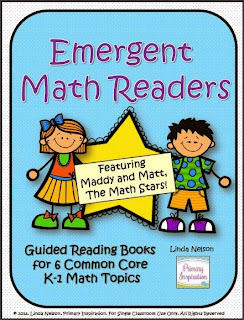 http://www.teachersnotebook.com/product/linda+n/six-emergent-math-guided-reading-books-maddy-and-matt