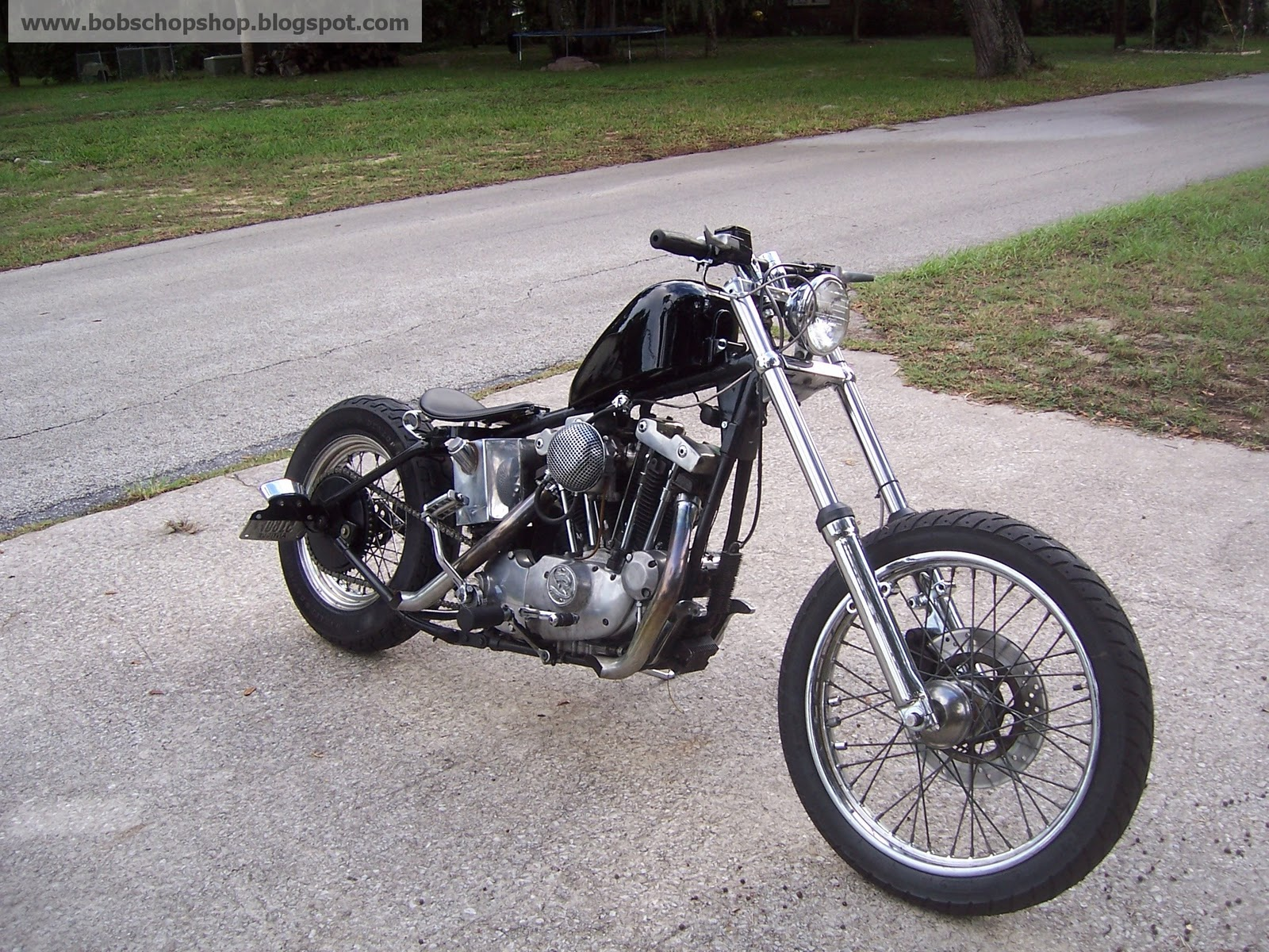 BOBS CHOP SHOP: 1973 HARLEY IRONHEAD SPORTSTER CHOPPER / BOBBER PROJECT